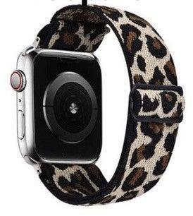 Light Leopard Print Stretch 38/44 mm Apple Watchband
