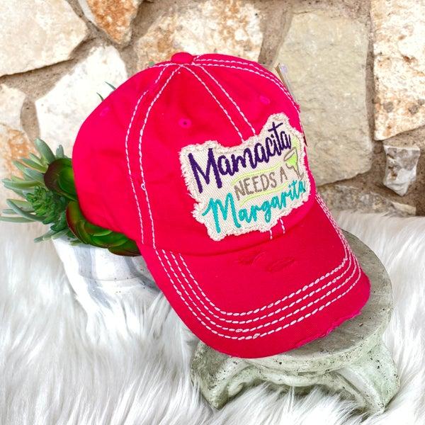 Mamacita Needs a Margarita Pink Ball Cap