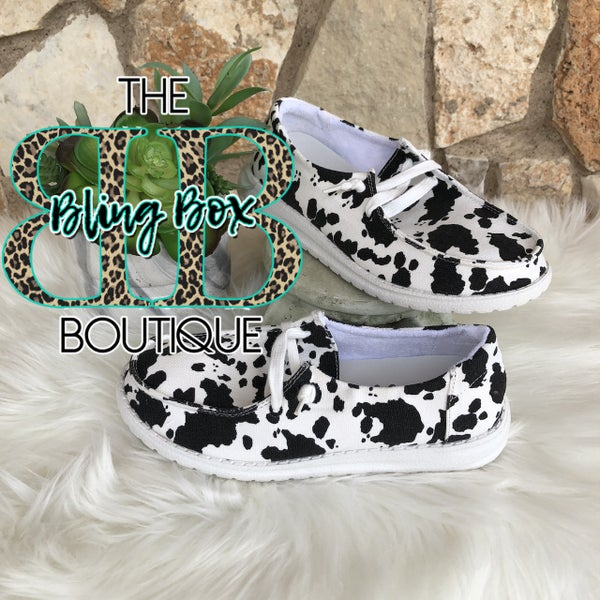 Milk It Black Cowprint Gypsy Jazz Shoe