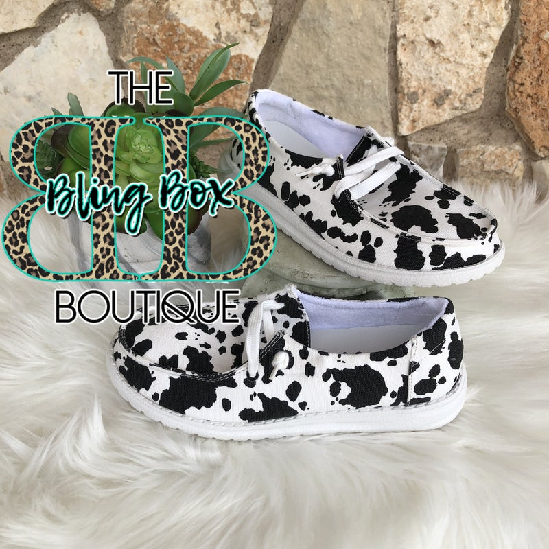 Milk It Black Cowprint Gypsy Jazz Shoe