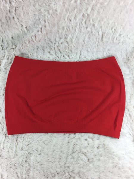 Red Bandeau Bra - ONE SIZE