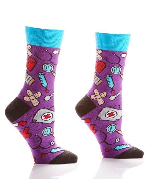 Nurse Purple Crazy Socks