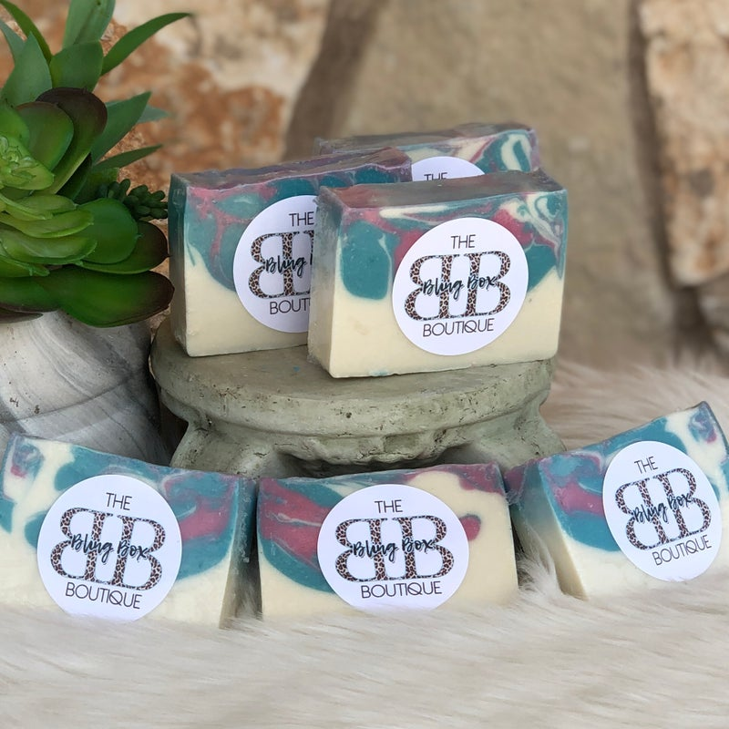 The Bling Box Boutique Gourmet Hand Made Bar of Soap