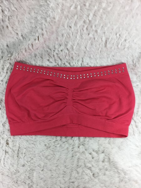 Coral Bling Bandeau Bra - ONE SIZE