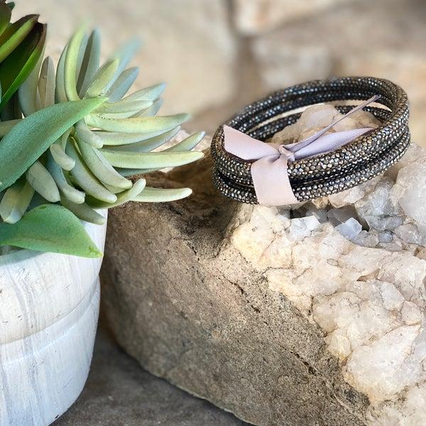 Hematite 3-Piece Bling Bracelet Set