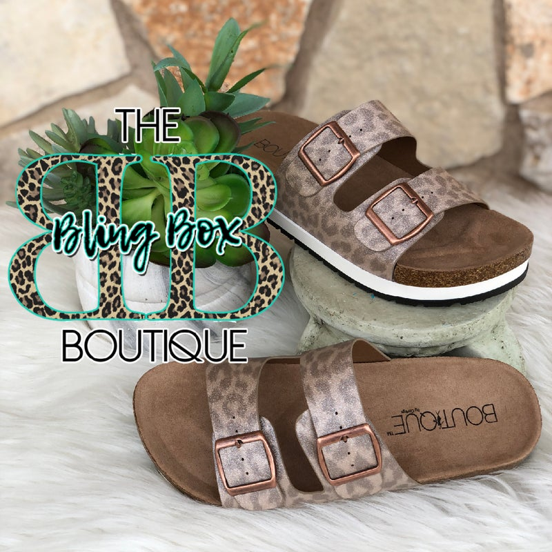 Corkys Beach Babe Tan Glitter Leopard Sandals