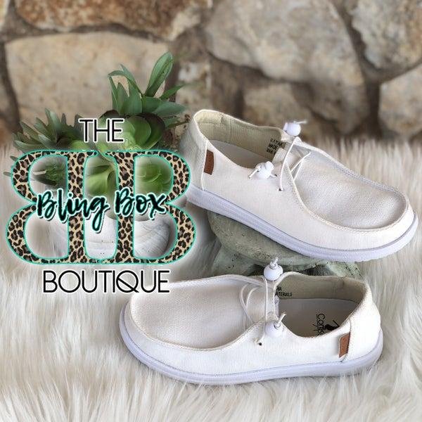Corkys Kayak White Slip On Tennis Shoes