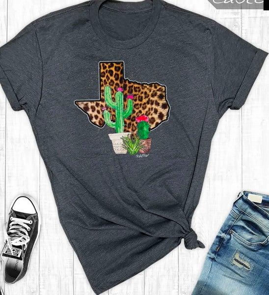 Leopard Texas Cactus T-Shirt