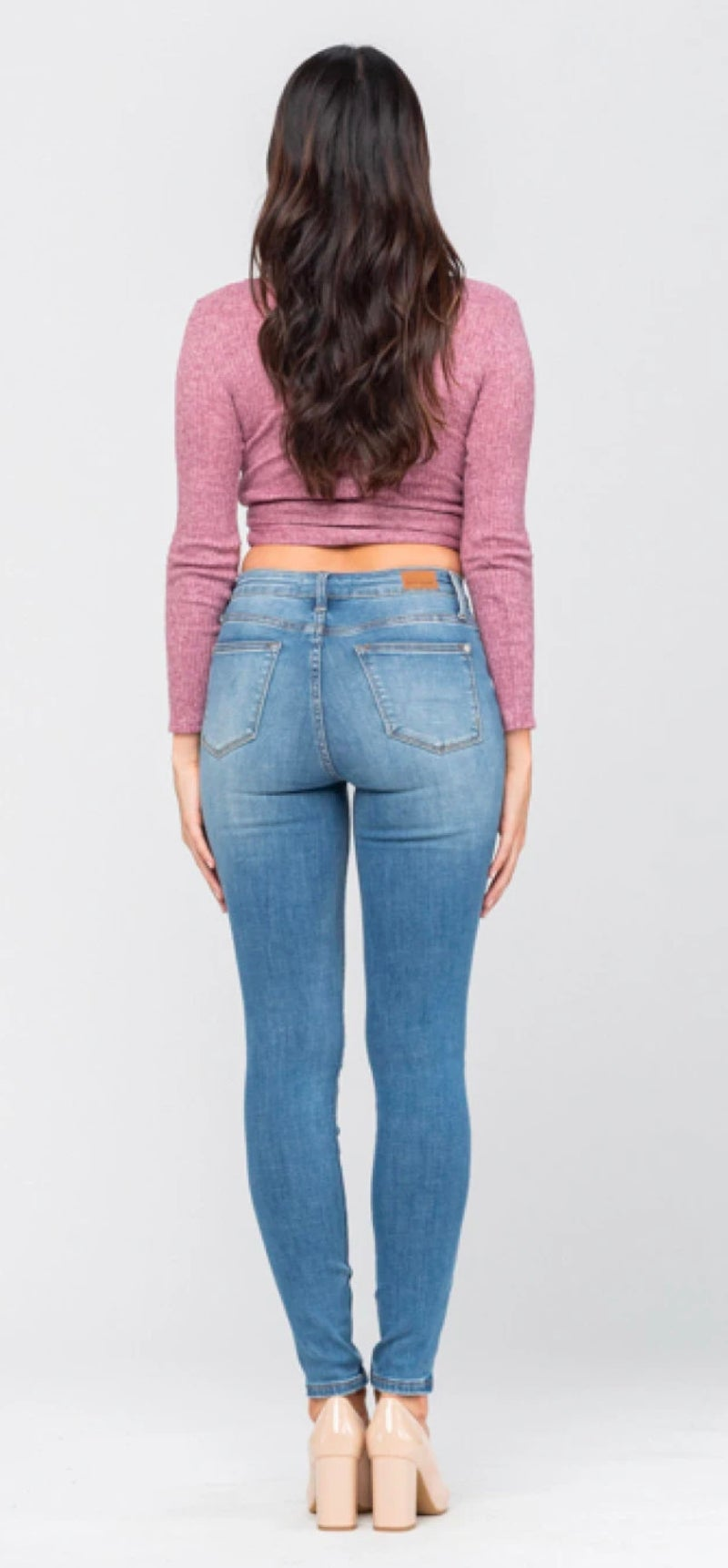 Judy Blue High Waist Light Wash Skinny Jeans