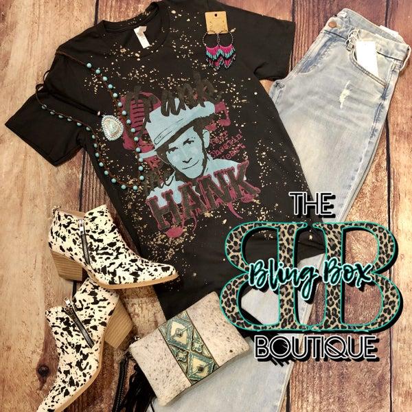 Black Bleached Crank The Hank T-Shirt