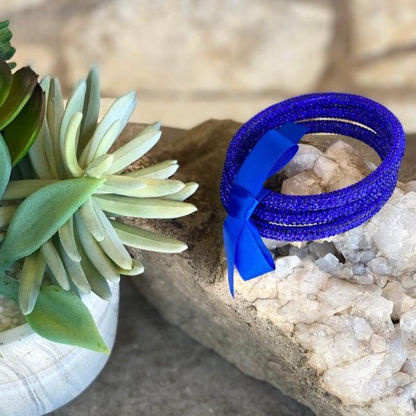 Royal Blue 3-Piece Bling Bracelet Set