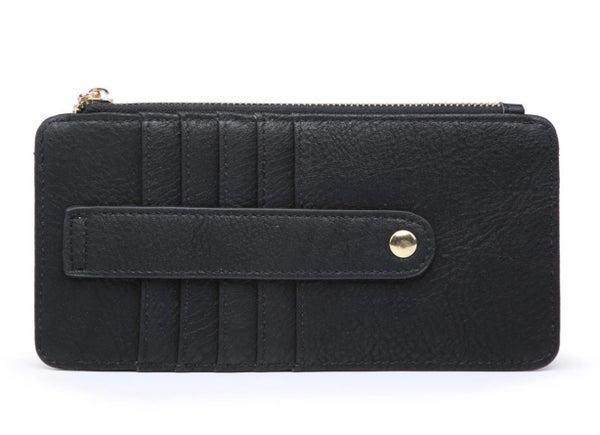 Black Saige Slim Card Holder Wallet