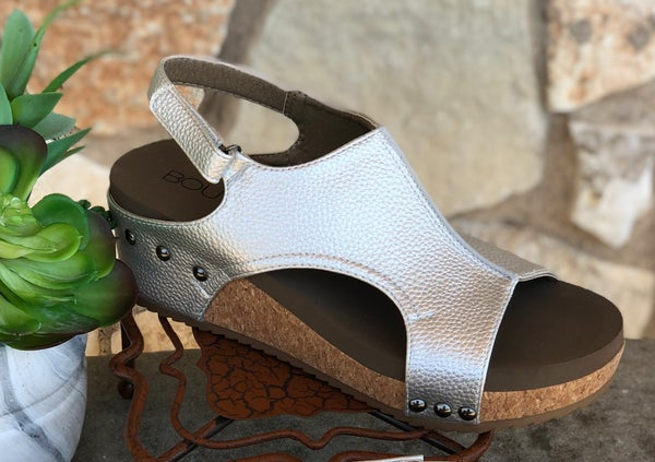 Silver Volta Wedge Sandal SIZE