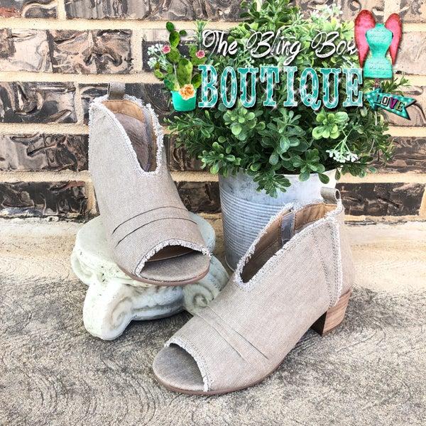 Sunshine Khaki Heeled Sandal Shoe