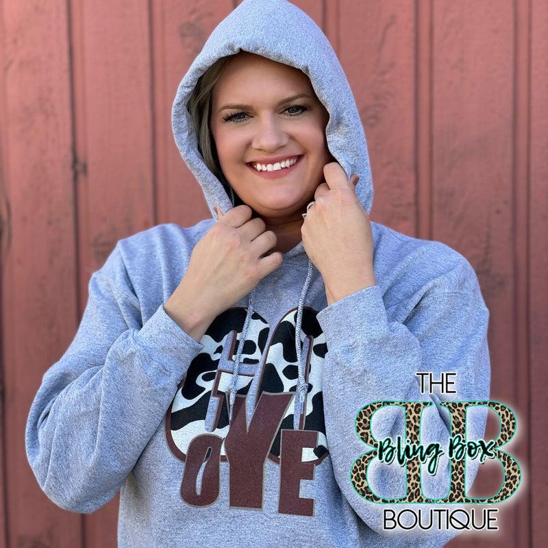 Go Yoe Cowprint Hoodie Sweatshirt