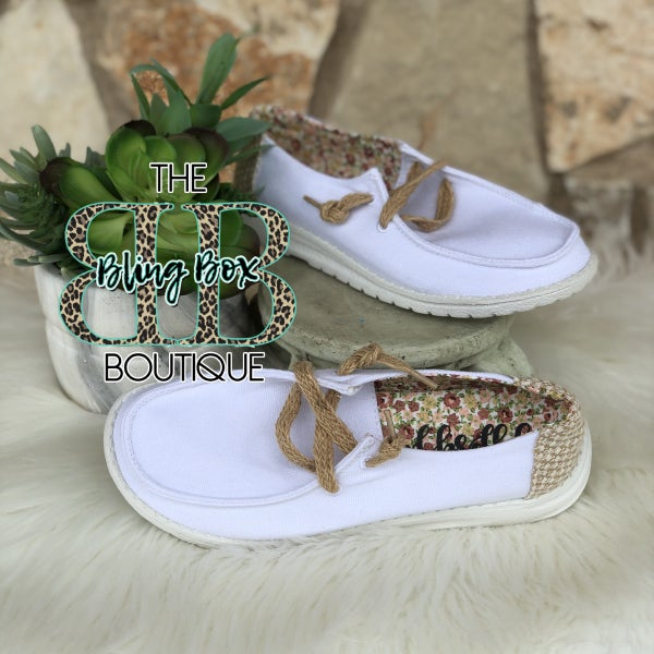 Gypsy Jazz Dolly White Canvas Sneakers