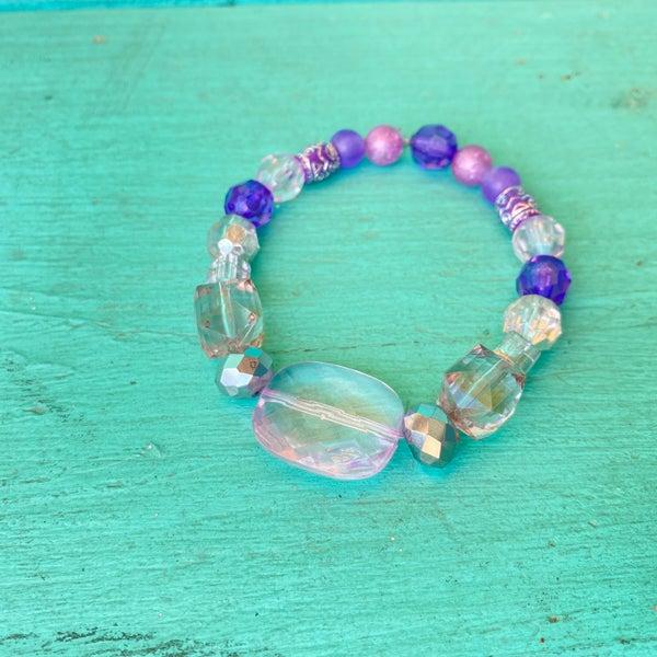 Bonnie Angela Purple Crystal  Stretch Bracelet #4