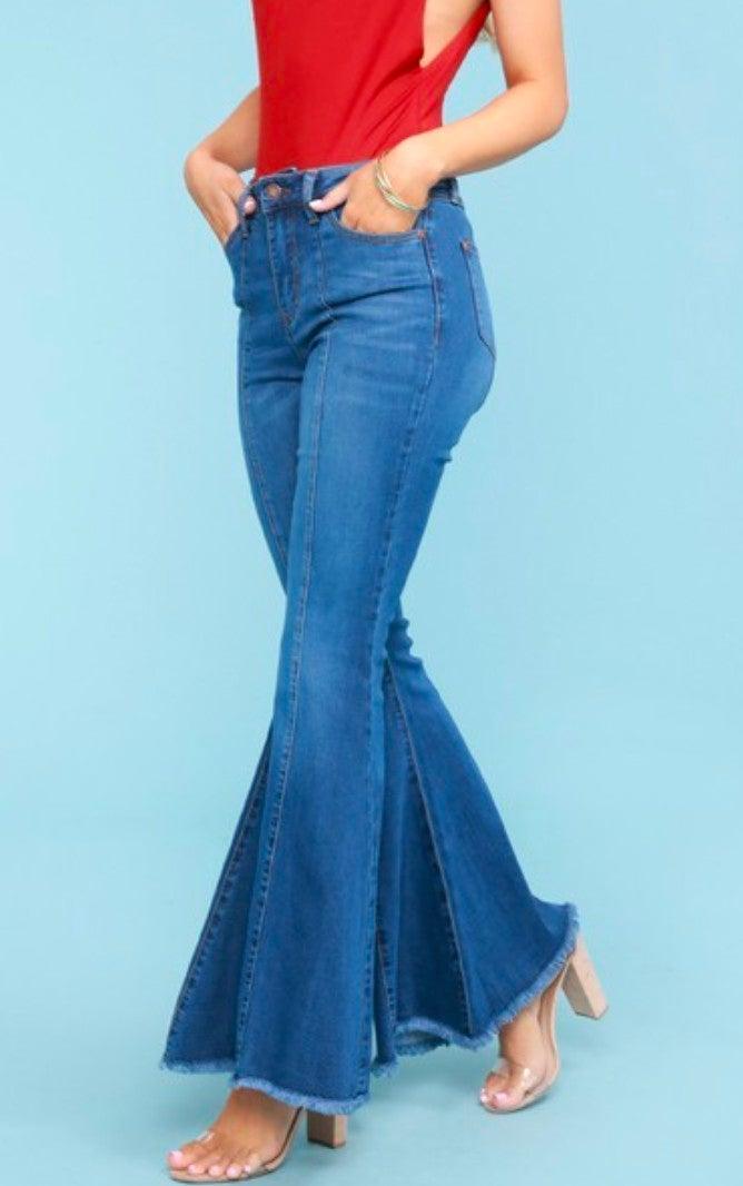 Judy Blue Mid Seam Super Flare Jeans