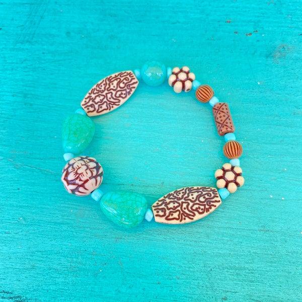 Bonnie Angela Turquoise Stretch Bracelet #5