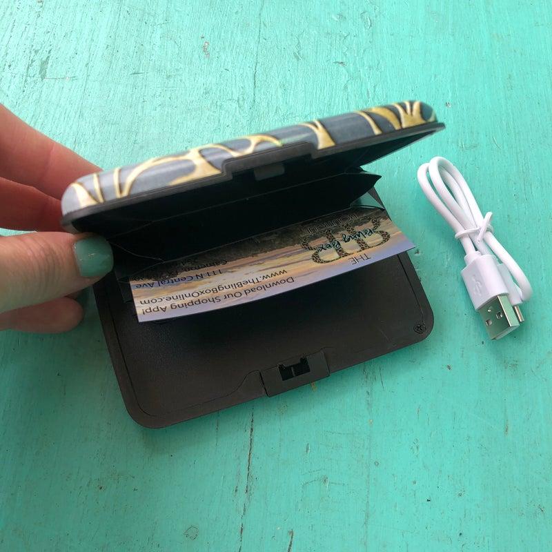 RFID Powerbank Wallet - Swirl Print