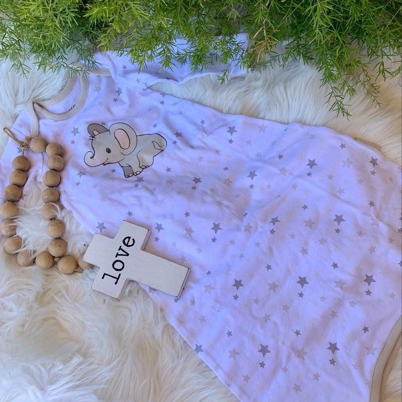 Lil'Llama Elephant Gown Gift Boxed 0-6 mos.