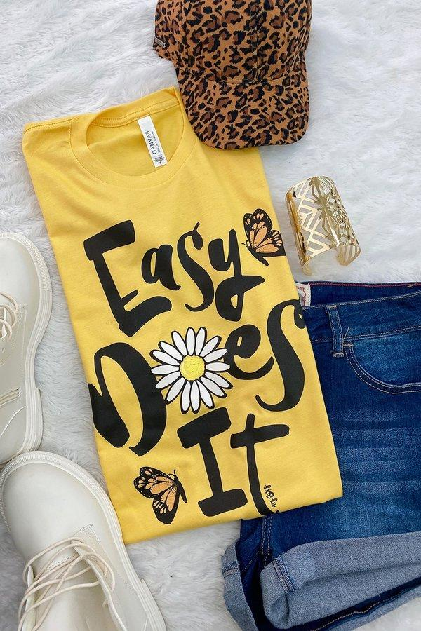 Yellow Easy Does It Daisy Tee
