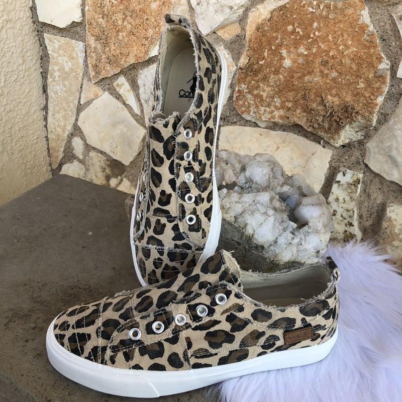 Babalu Leopard Slip on Sneaker SIZE