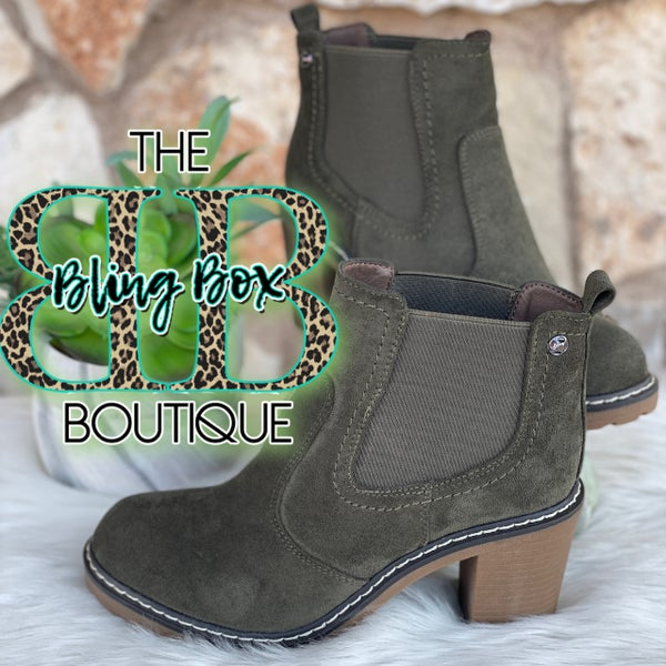Rocky Olive Corkys Suede Bootie