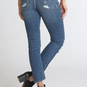 Liam Mid Rise Straight Ankle Ace Jean   SIZE