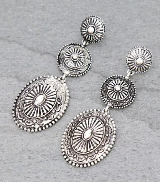 3 piece Concho Dangle Earrings