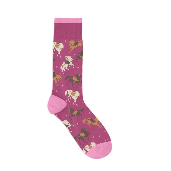 The Equestrian Pink Crazy Socks