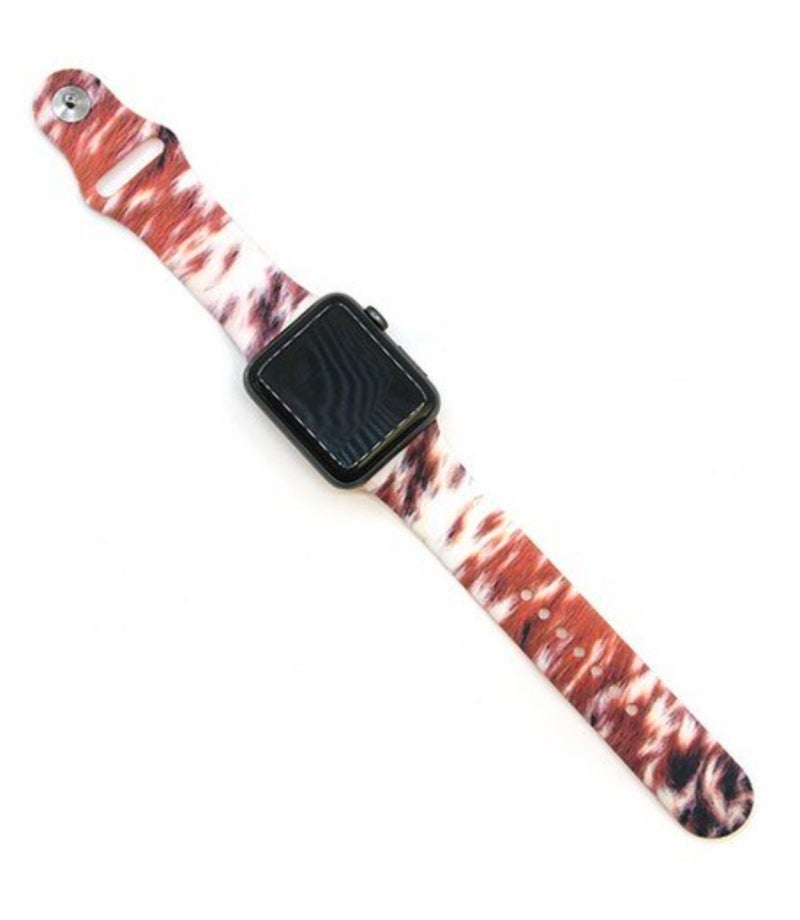 Cowhide Rubber Apple Watchband 38/40 mm