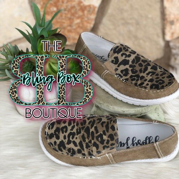 Gypsy Jazz Bronco Tan Leopard Slip On Shoe