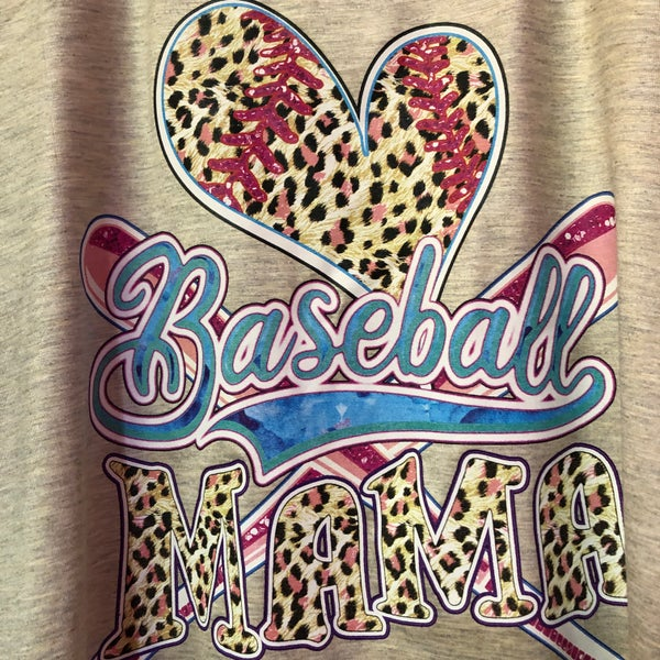 Leopard Baseball Mama Tank