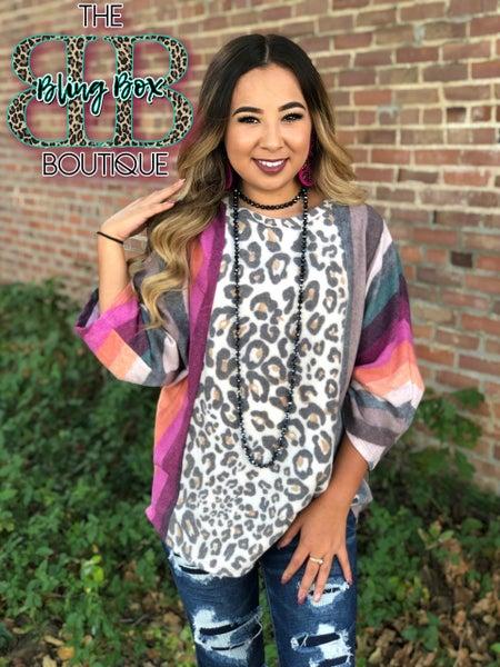 Mega Soft Harvest Leopard Top