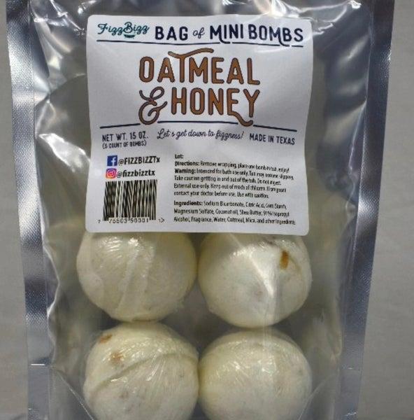Mini - Oatmeal & Honey Bath Bombs (5 Ct.)