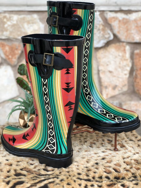 Aztec Rain Boots SIZE
