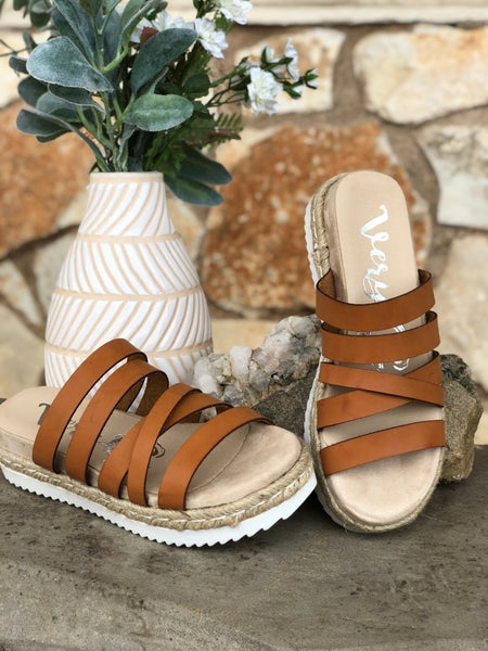 Tan Leather Strap Lindy Sandal SIZE