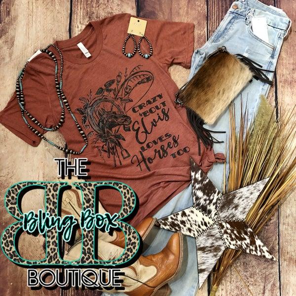 Rust Crazy About Elvis T-Shirt