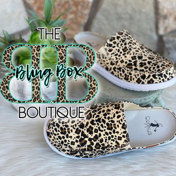 Corkys Leopard Pontoon Slip on Tennis Shoes