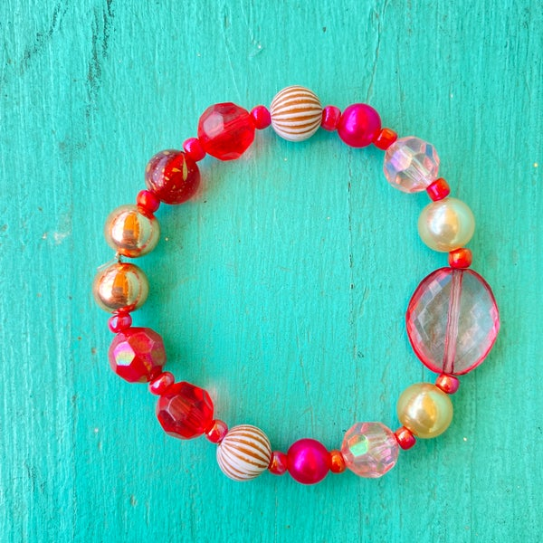 Bonnie Angela Pink Crystal Stretch Bracelet #3