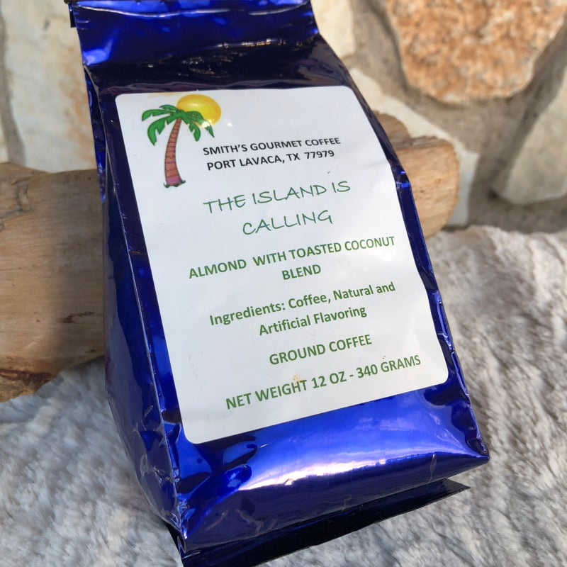 Almond With Toasted Coconut Blend Gourmet Ground Coffee - The Island Is Calling