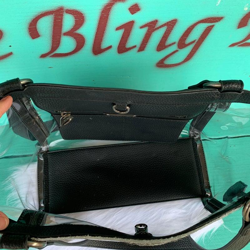 Western Clear Tote Cowhide Bag