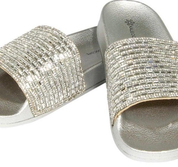 Silver Bling Fashion Slides