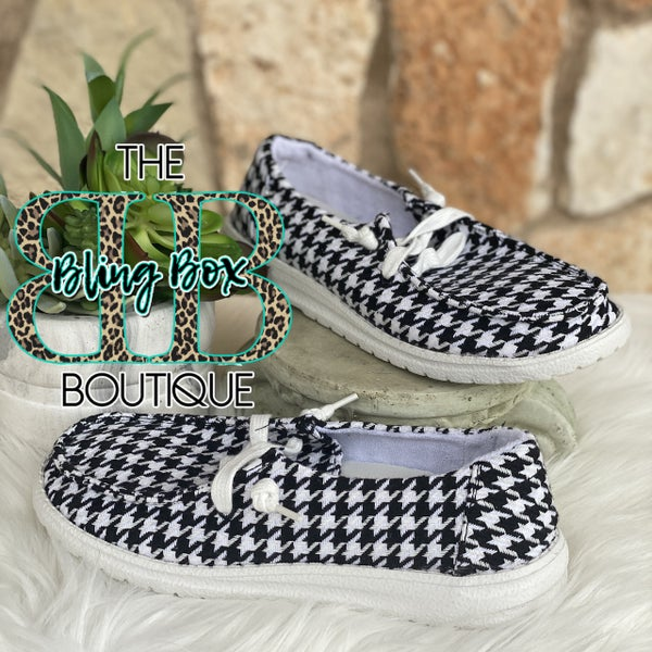 Houndstooth Gypsy Jazz Shoe