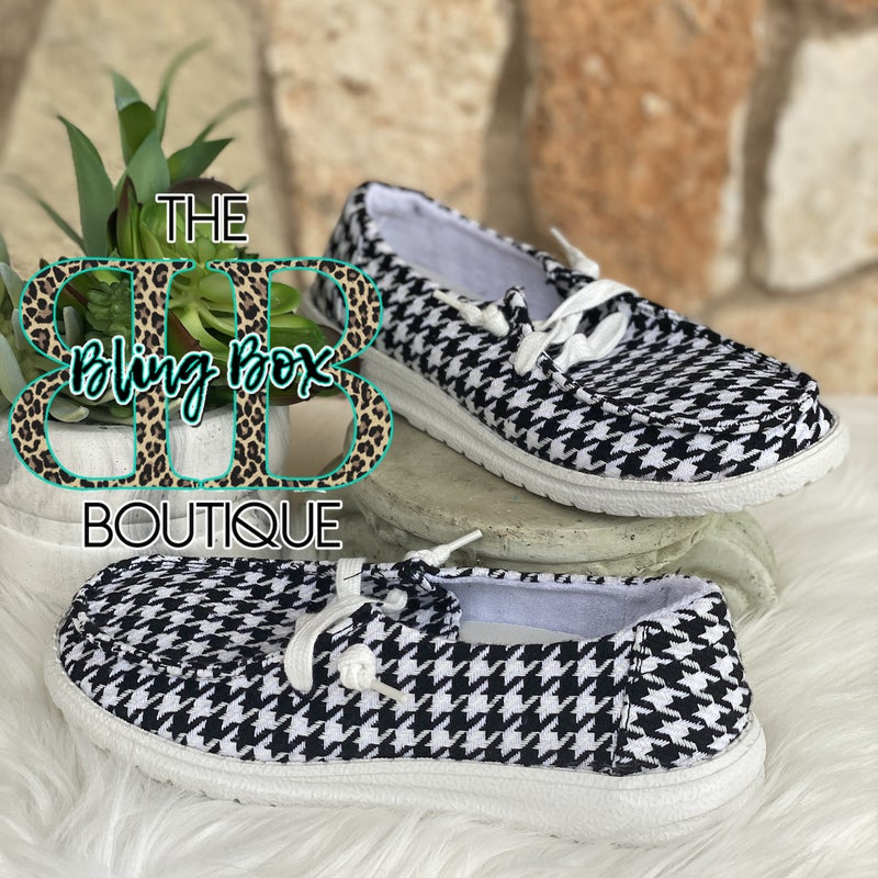 Houndstooth Gypsy Jazz Shoe