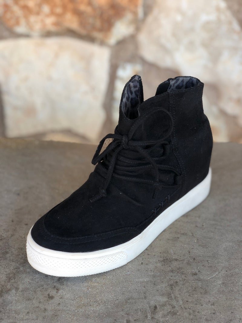 Ursula - Black Suede Tennis Shoe SIZE