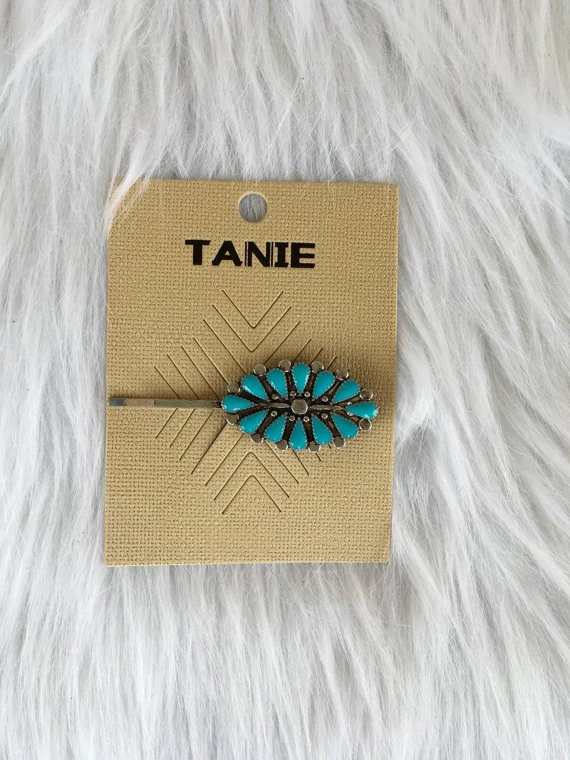 Turquoise Medallion Hair Barette