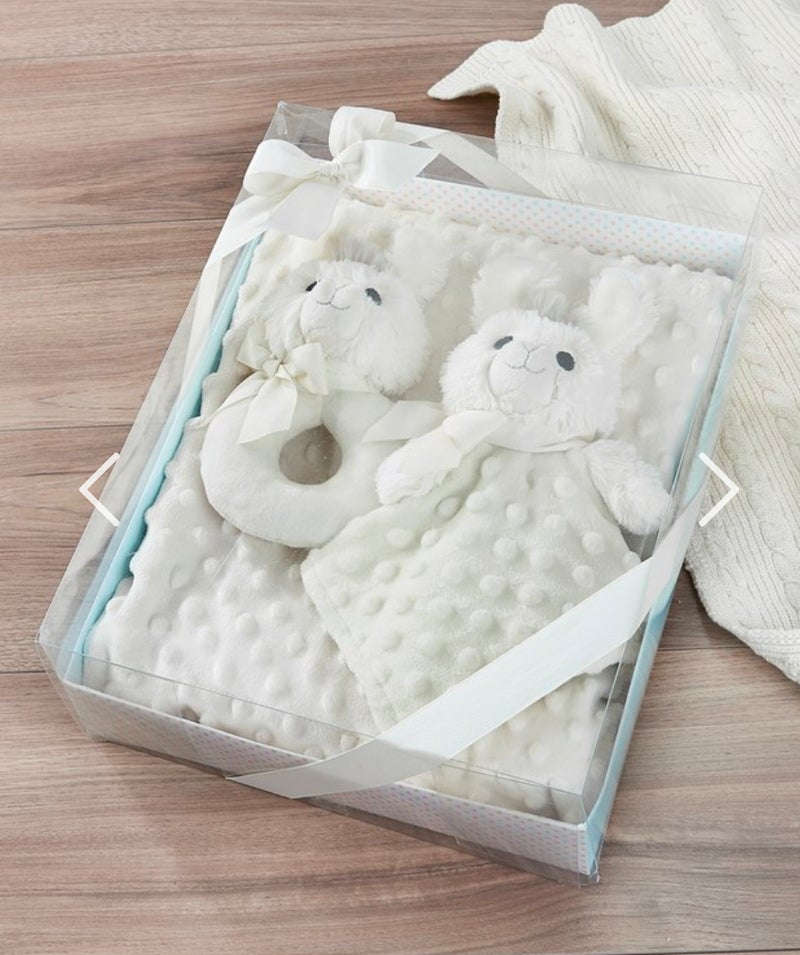 Llama Toy, Rattle & Blanket Set of 3