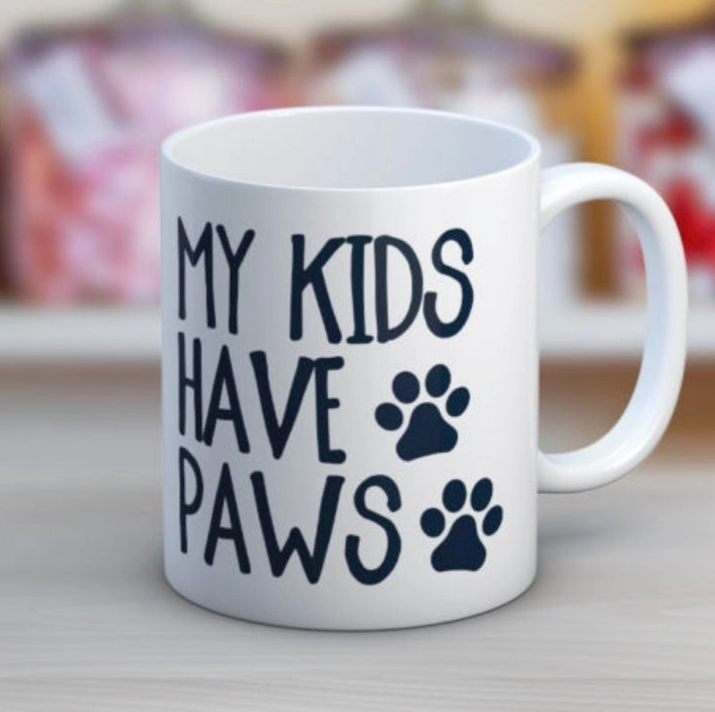 My Kids Have Paws Coffee 11 oz. Mug